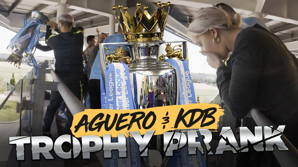 After SHOCKING FOOTAGE emerged of a broken @premierleague trophy yesterday, we thought it time we put the record straight...  🔵 #mancity 🏆