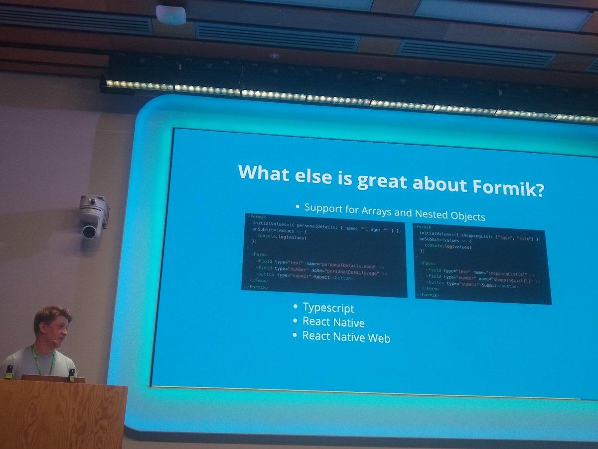 Hashtag #formik sur Twitter