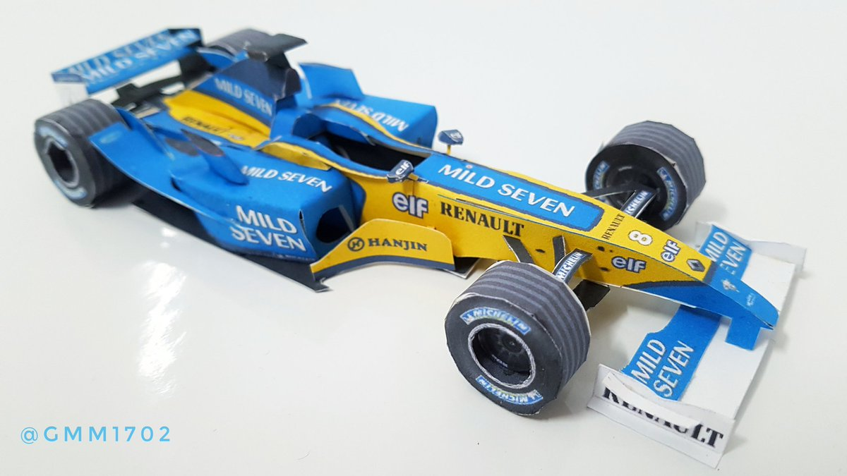 Today, it's @alo_oficial's first #F1 winner I'm focusing on, the 2003 @RenaultF1Team R23 - but in paper! #Alonso #Renault