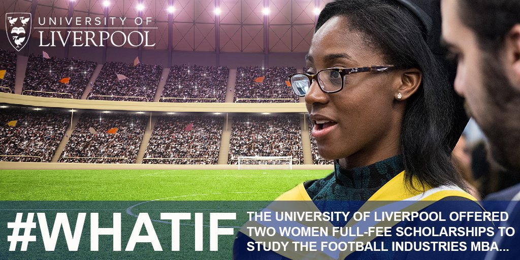 We are thrilled to be pledging scholarships for talented women to join our Football Industries MBA programme. We welcome this unique opportunity to join @WomeninFootball with promoting women and their engagement with the beautiful game.#WhatIf @UoLManSchool