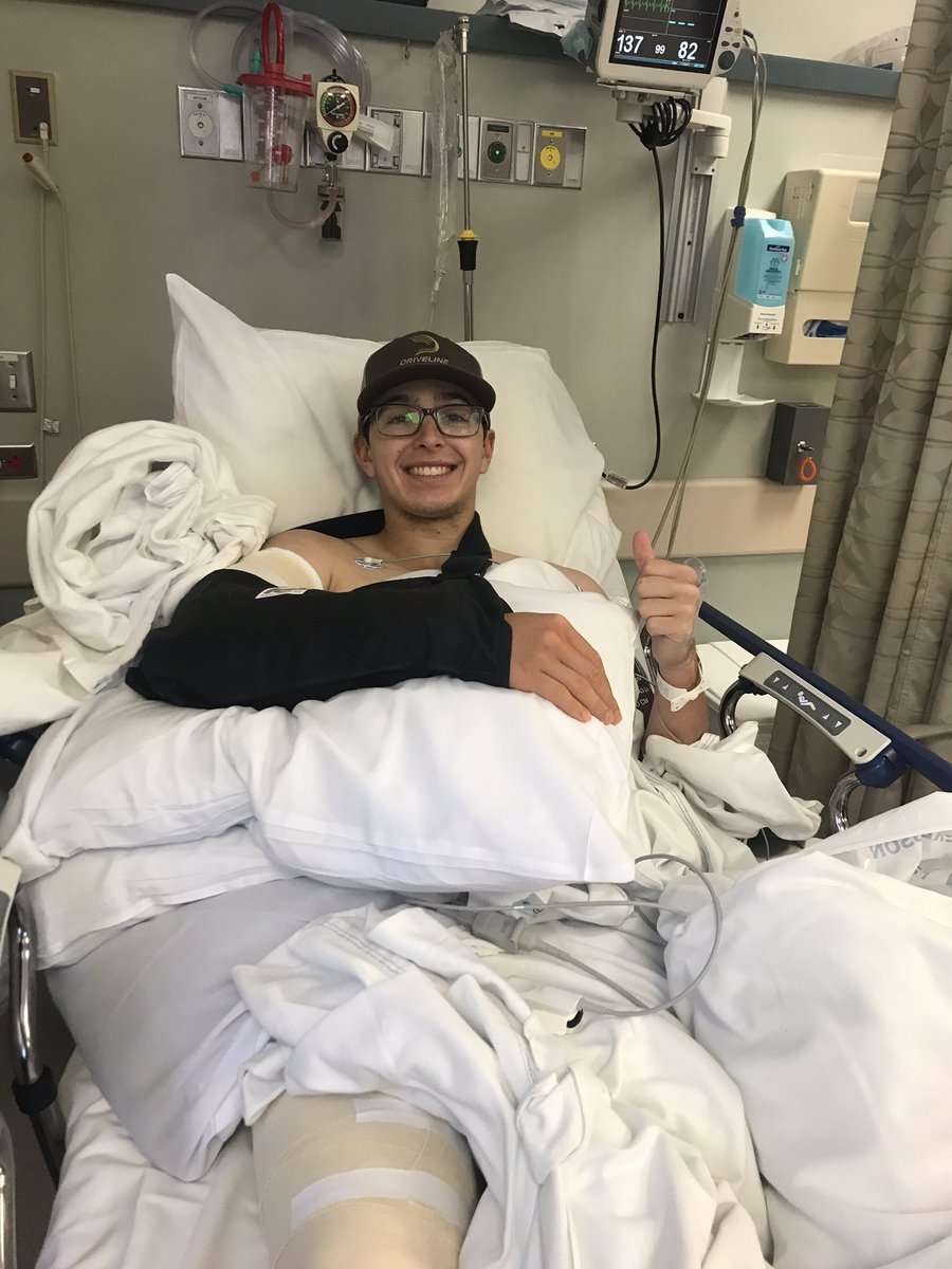 Thank you for the prayers and support, the surgery was successful!looking forward to being back on the field in 2021 with the boys! #BearDown #TommyJohn<br>http://pic.twitter.com/O6JYZxwN6w