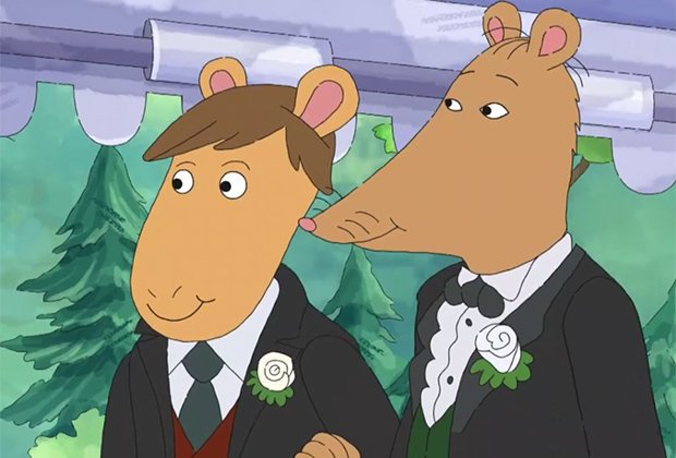 Alabama: Signs abortion ban.  Also, Alabama: Refuses to air the season premiere of Arthur because the episode features a same-sex wedding: http://cmplx.co/JqKi8uG