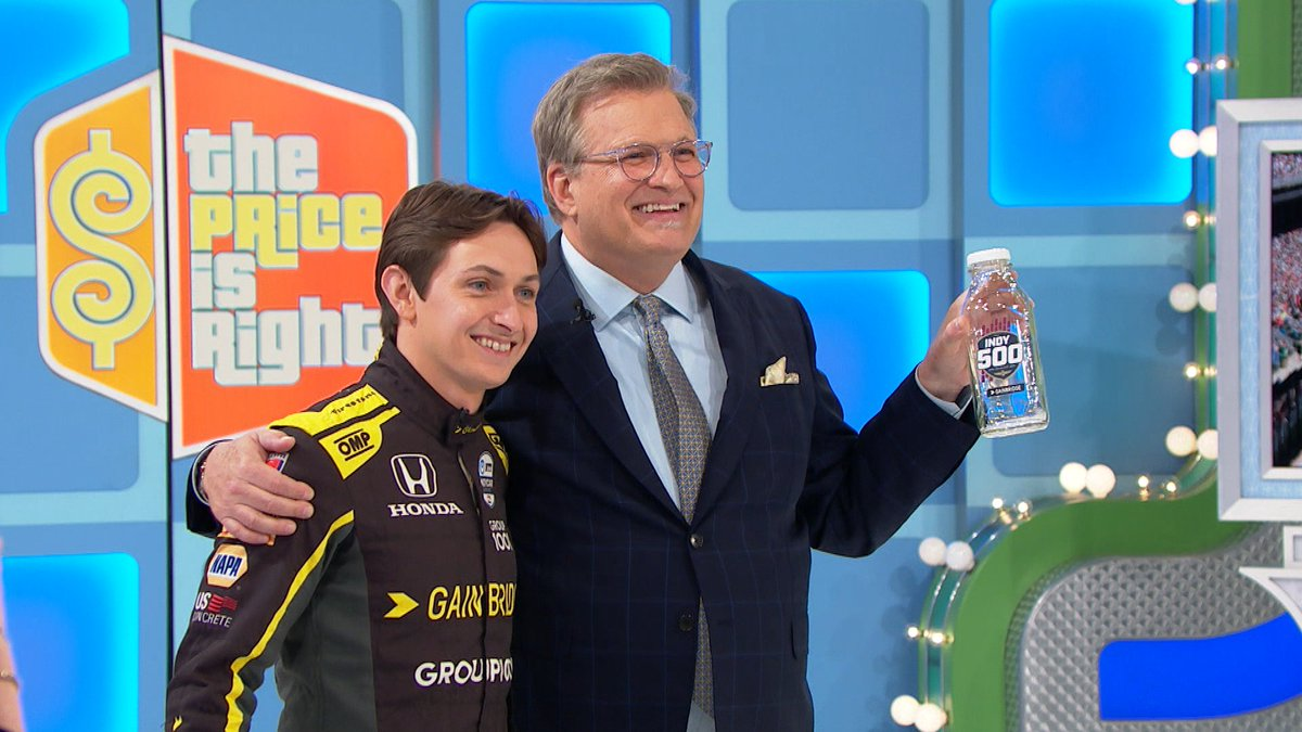 We may be turning left this month, but the price is always right. Tune in tomorrow to watch @ZachVeach present an awesome #Indy500 showcase! 👀  #INDYCAR // #PriceIsRight
