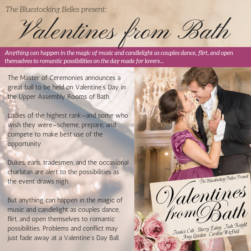 In five original stories, Jessica Cale, Sherry Ewing, Jude Knight, Amy Quinton, and Caroline Warfield bring you #Valentines From #Bath.  25% of proceeds benefit the #Malala Fund. #bellesinblue #ReadaRegency #99¢  http:// ow.ly/J4BM30o8o6m  &nbsp;   <br>http://pic.twitter.com/pMLWEsLT26