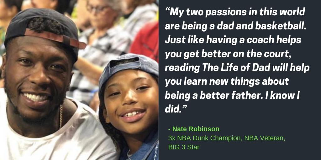 🏀Almost 5 years after #HeartOverHeight debuted I'm happy to have 3x NBA Dunk Champion, @thebig3 star (and my pal) @nate_robinson endorse our @LifeofDadShow book! His thoughts on hoops & having fun & raising kids were awesome.  30% OFF for #FathersDay👉http://bit.ly/2HdY8CuJF