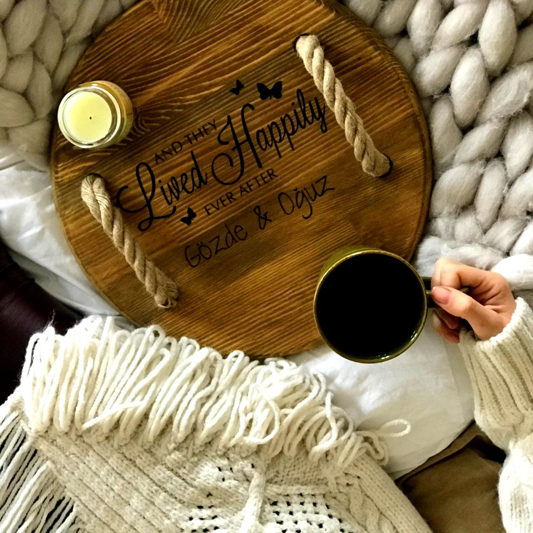 """IN  WE TRUST!Go order GOODBUTWOOD's """"Living the Dream"""" customized serving tray with ropes!  Own something proves your eternal togetherness.http://bit.ly/GBWLivingTheDream… Worldwide Free Shipping #gemini #imss #love #gift"""