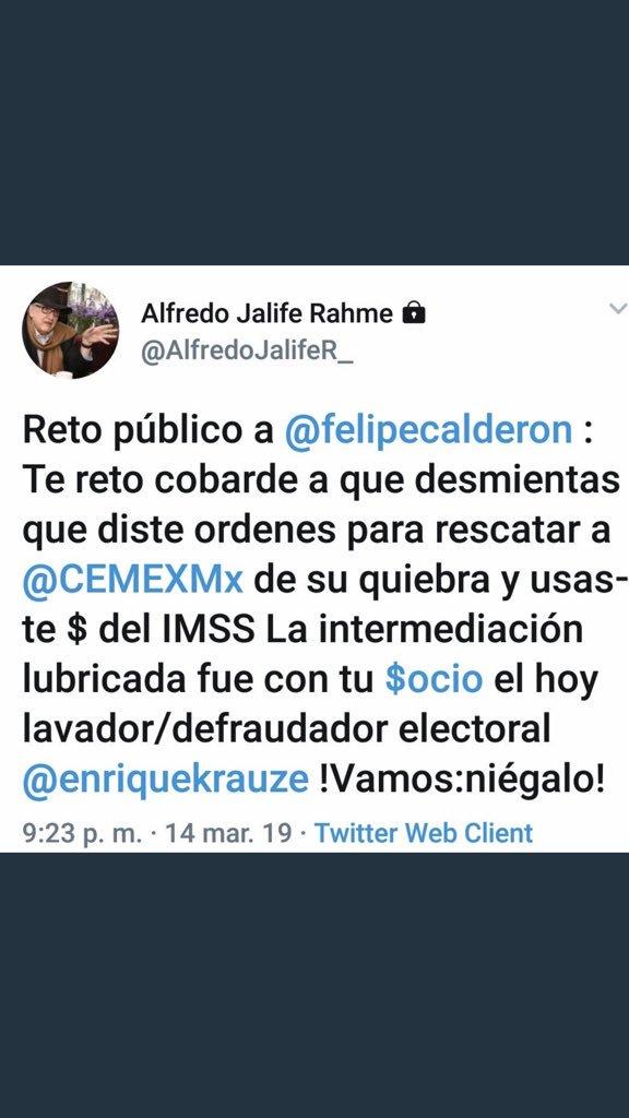 No, el quería manejar al IMSS como su cuate Calderón y eso no es posible. Nunca más!