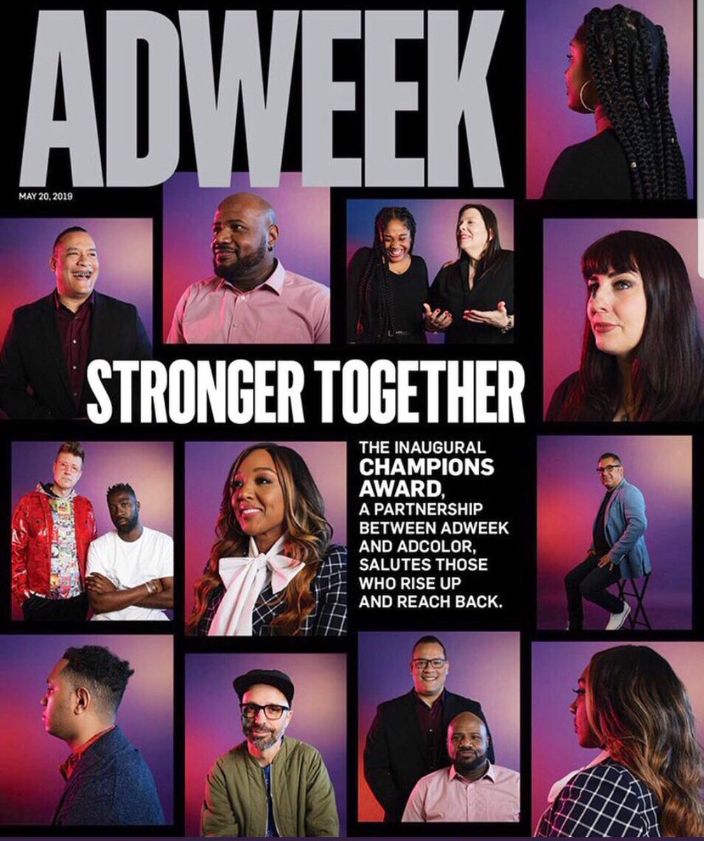 Congrats to our very own @TSmithAnoai who was recognized by @Adweek + @ADCOLOR as an inaugural Champion for making meaningful contributions toward diversity & inclusivity. #CBS @CBSEntDiversity 👏