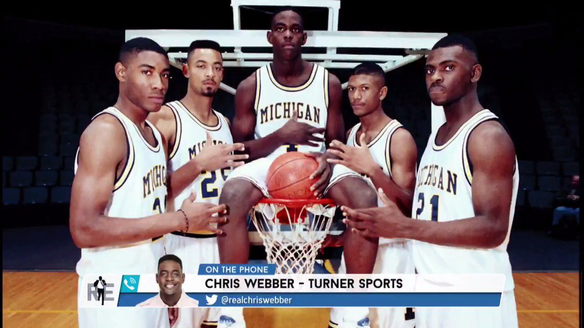 .@realchriswebber pounded the table for former #FabFive teammate Juwan Howard to be the next @umichbball head coach...and hinted what his hire might bring:
