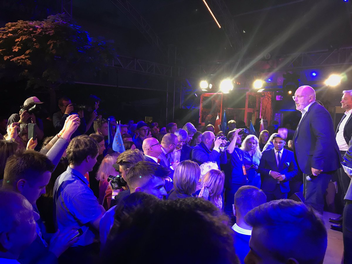 My message in Poland tonight was a simple one: if you want change, you have to vote in the European elections! #ItsTime