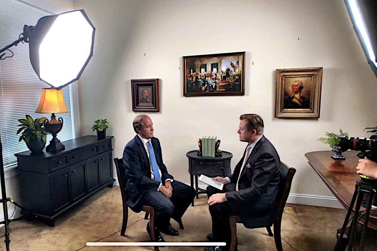 This evening: I interview Texas AG @KenPaxtonTX on @EpochTimes American Thought Leaders 🇺🇸. We discuss the border crisis, human trafficking, immigration reform, as well as Paxton's approach to perceived federal overreach, voter ID laws and voter fraud.