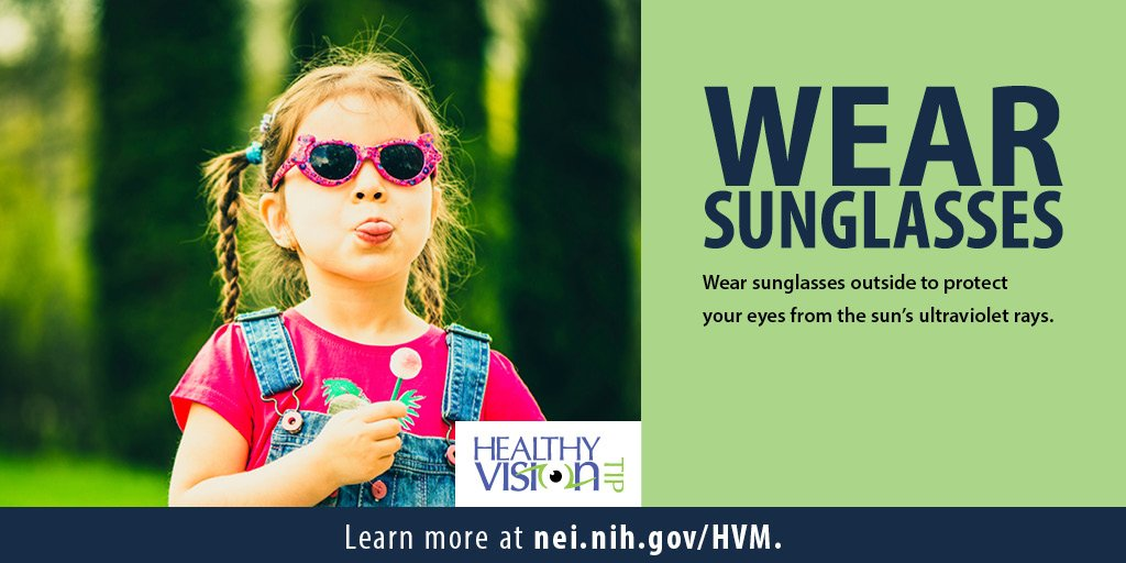 Sunglasses are more than a fashion accessory—they're a way to protect the eyes from UV rays. Here's why: http://ow.ly/DeYE50ulnCB #HealthyVisionMonth