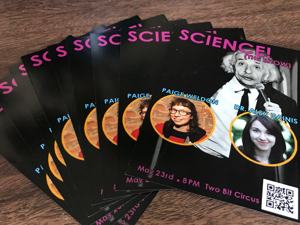 Does your Thursday night need some laughs *and* some science? Well my face on this flyer claims you can get both this week at @show_science! All you gotta do is snag a ticket here: bit.ly/sciencetheshow