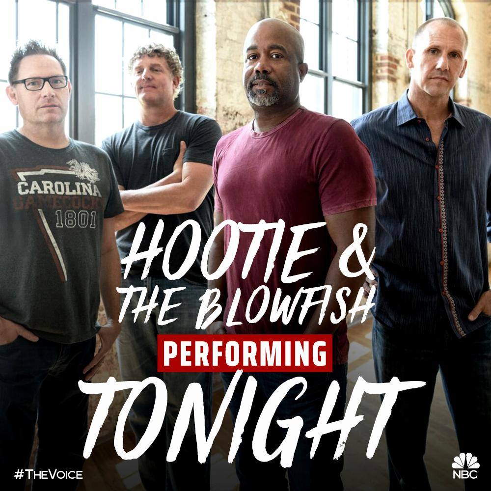 Can't wait to perform with @HootieTweets on @NBCTheVoice tonight! Y'all better tune in! #VoiceFinale