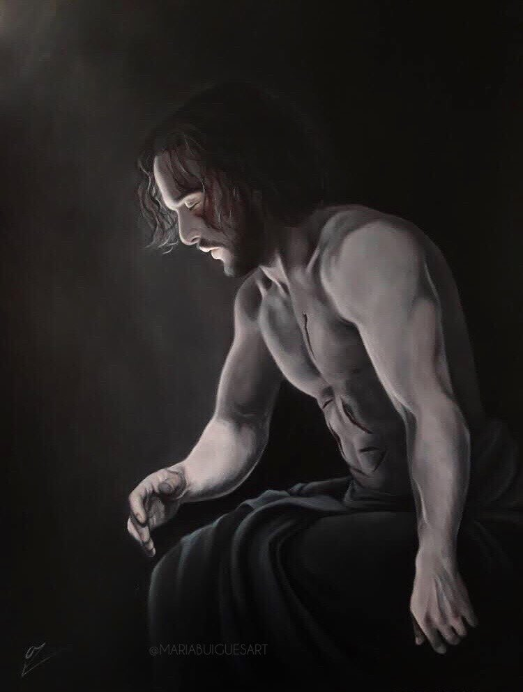 """•""""The Traitor"""" I did enjoy the last episode of #GameOfThrones! In my opinion, it will always be the best show ever made. Thank you @GameOfThrones for everything you gave me. (Painting made in acrylics) #GameOfThronesFinale  #got #gots8 #jonsnow #kitharington #TheFinalEpisode <br>http://pic.twitter.com/NsPFr2Kp9p"""