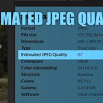 "I've added the new field ""Estimated JPEG Quality"" to the Examine tool of https://t.co/o93is1if2R . This way you get an estimate of the value with which the JPEG was saved. The estimate is based on a classification of quality values generated by the standard quantization tables. https://t.co/llgXaXqk5H"