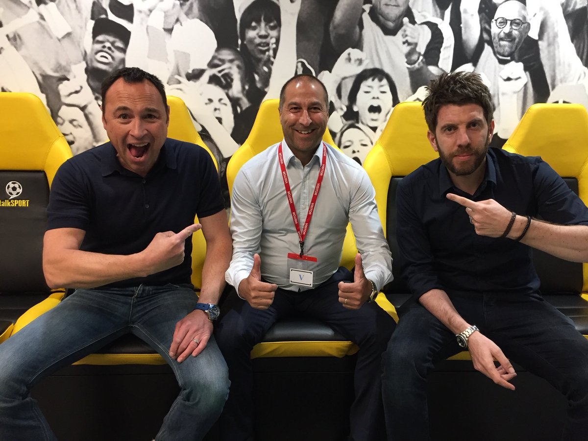 The Sports Bar is OPEN! @AndyGoldstein05 @JasonCundy05 ⚽️ Jimmy Carter in the studio! 🤔 Should Petr Cech play in final? 💴 Transfer chat @KevinHatchard 📰 Tomorrow's back pages 🚊 Midnight train to madness 📱 Call - 08717223344 📻 Listen - tlks.pt/ListenLive
