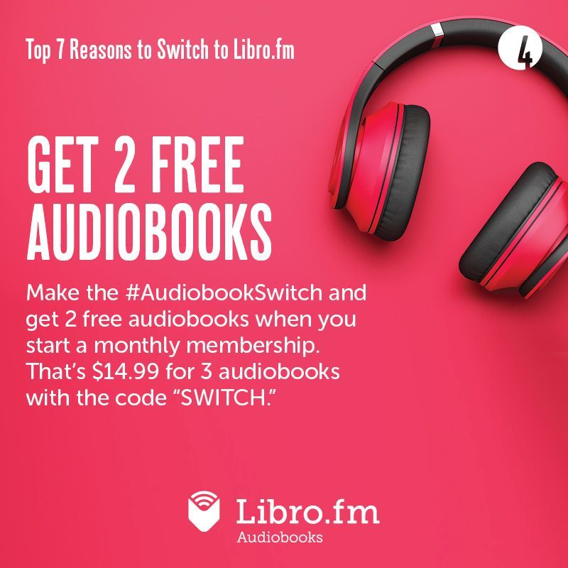 Now is the perfect time to start your @librofm membership through Bookmarks! libro.fm/bookmarksnc