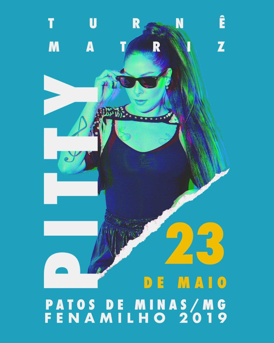 quinta tem #TurnêMatriz em Patos de Minas/MG na #FenaMilho2019  só vem: http://bit.ly/PittyFena2019