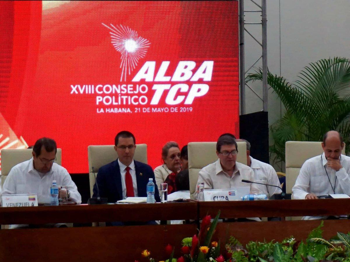 Las amenazas del uso de la fuerza contra la hermana República Bolivariana de #Venezuela constituyen el más grave peligro para la paz y seguridad de #NuestraAmérica. El #ALBATCP rechaza todo tipo de intervención en #Venezuela y defiende la paz y estabilidad de la región.