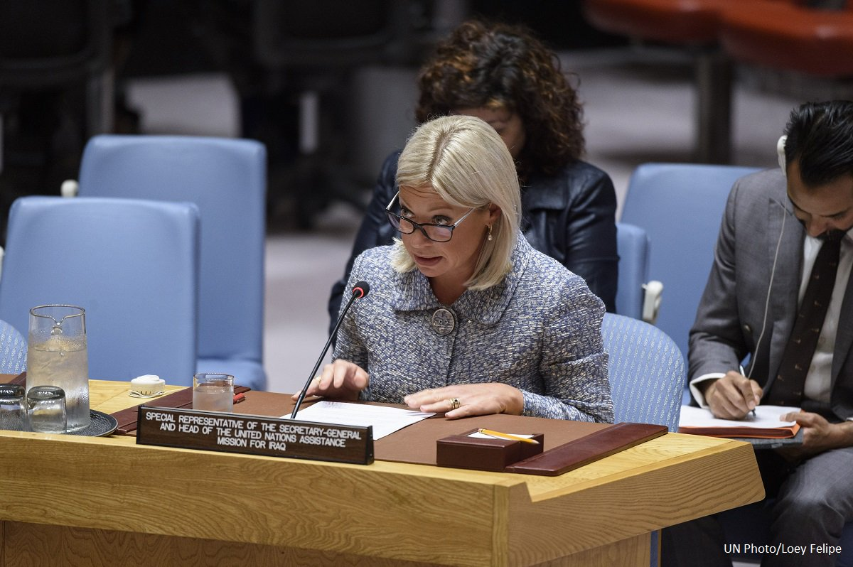 Briefing by Special Representative of the UN Secretary-General for #Iraq and head of UNAMI, Ms. Jeanine Hennis-Plasschaert, at the 8531st meeting of the UN Security Council on the situation concerning Iraq, held in New York on Tuesday, 21 May 2019. 👉https://bit.ly/2VKtva8