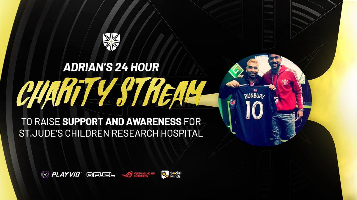 This Saturday, come have fun and support a great cause with @Adrian141510's stream supporting @StJudePLAYLIVE! You won't want to miss it!  #LockedNLoaded <br>http://pic.twitter.com/ZtoSmETXcU