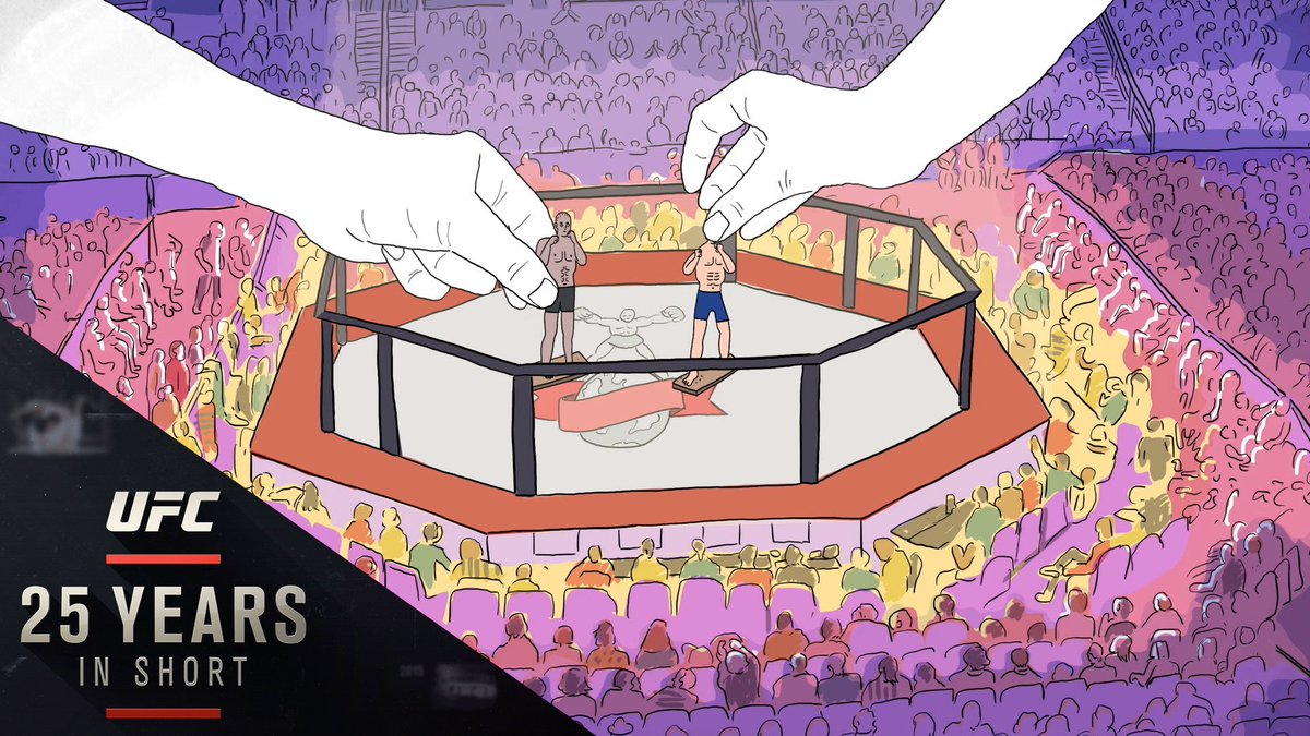 """In 1993, the @UFC was born in an 8-sided cradle of combat, & promoters, TV producers, and Hollywood set designers still dispute who is the Octagon's true creator.  """"Octo"""" is now streaming on YouTube and http://UFC.com. Watch at the link below⬇️:  https://www.ufc.com/video/octo-disputed-origin-story-octagon…"""