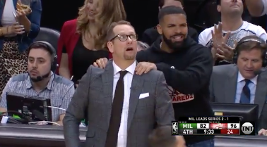 Nobody: Drake at Raptors games: