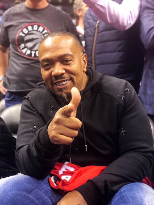 Timbaland courtside in Raptors Game⭐️