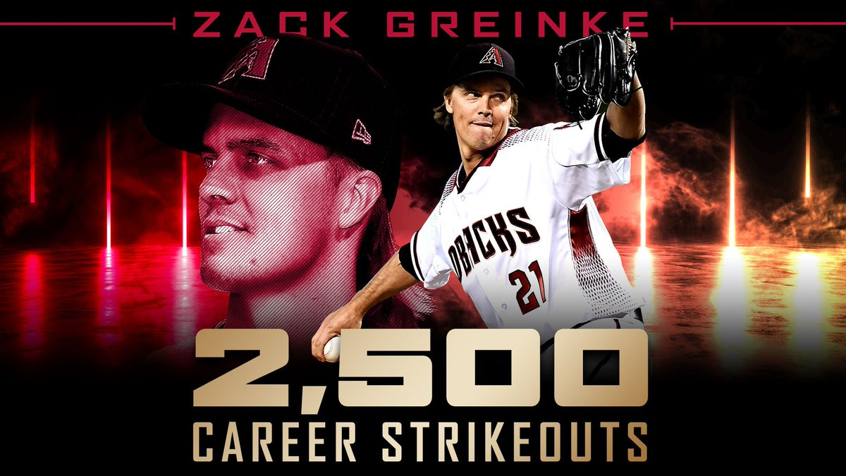 Greinke becomes 37th pitcher to reach 2,500 K's