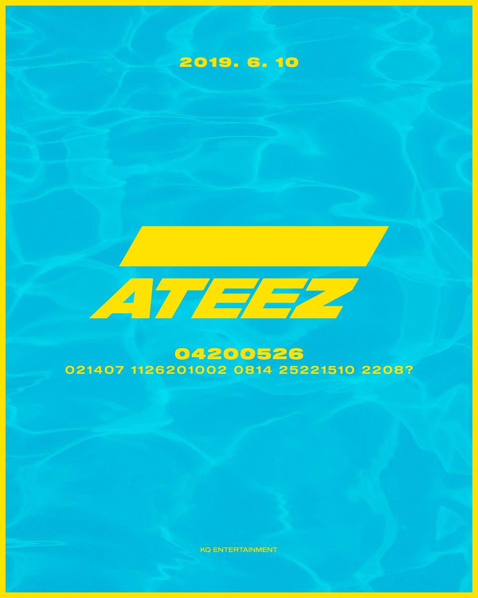 [📷] ATEEZ TREASURE CODE POSTER 2  ALBUM RELEASE 2019. 6. 10 6PM Key Word : 20190610  #One_To_All #ATEEZ #에이티즈