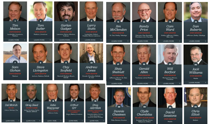 You&#39;ve probably seen the Left share this photo. But here&#39;s how to debunk this narrative that &quot;25 white men legislated woman&#39;s bodies in Alabama.&quot;  This bill was not introduced by a man. The AL abortion bill was sponsored by a WOMAN in the AL legislature named Rep. Terri Collins. <br>http://pic.twitter.com/mjHyZV8dPG