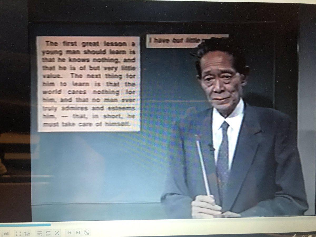 予備校生の頃、最も影響を受けたのが駿台の奥井潔師であり、大学合格して師と東京での再会の約束を果たさずまま、師は逝ってしまった。この度、20年の時を経て、映像をとおして師と再会。改めて感動!