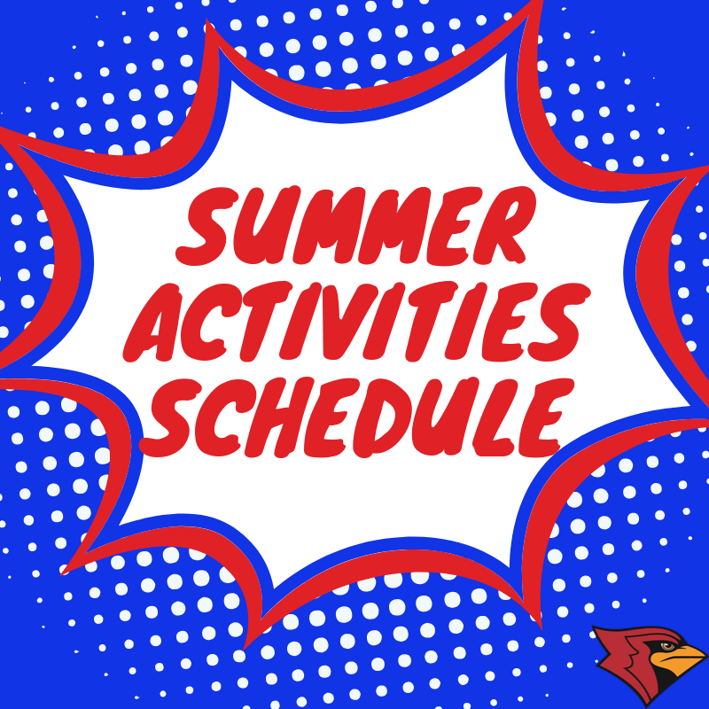 Summer sports camps, weights, open gyms/fields are starting soon! Follow the link below to learn more. http://bit.ly/2EnXpuC @CMSCardinals @CHSCards  #CardinalPride