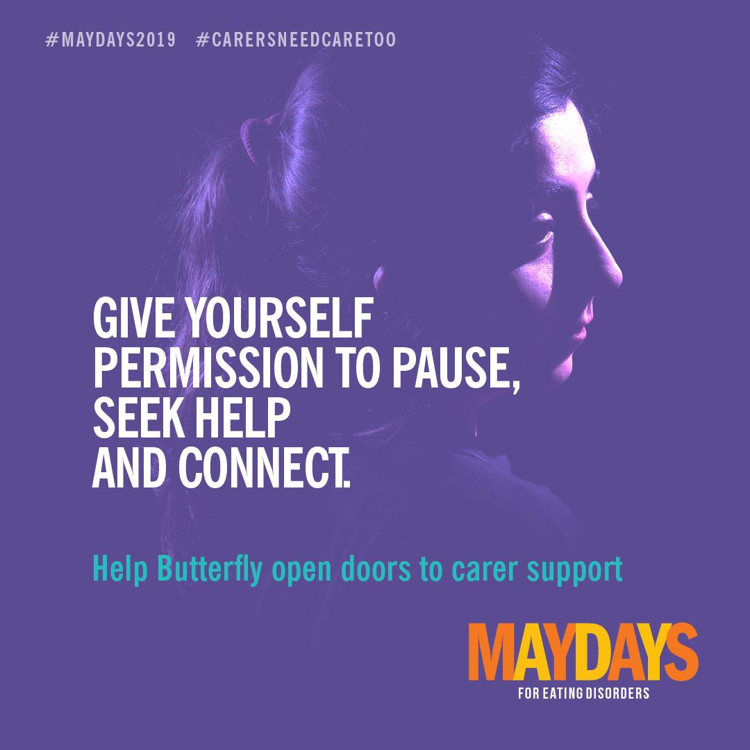 Encouraging support for #carers is a key focus area for Everymind. It is great to see @Bfoundation new campaign for carers of people with eating disorders, encouraging carers to pause, seek help and connect. #CarersNeedCareToo #MAYDAYS2019 https://t.co/Ti1mmMmdFp