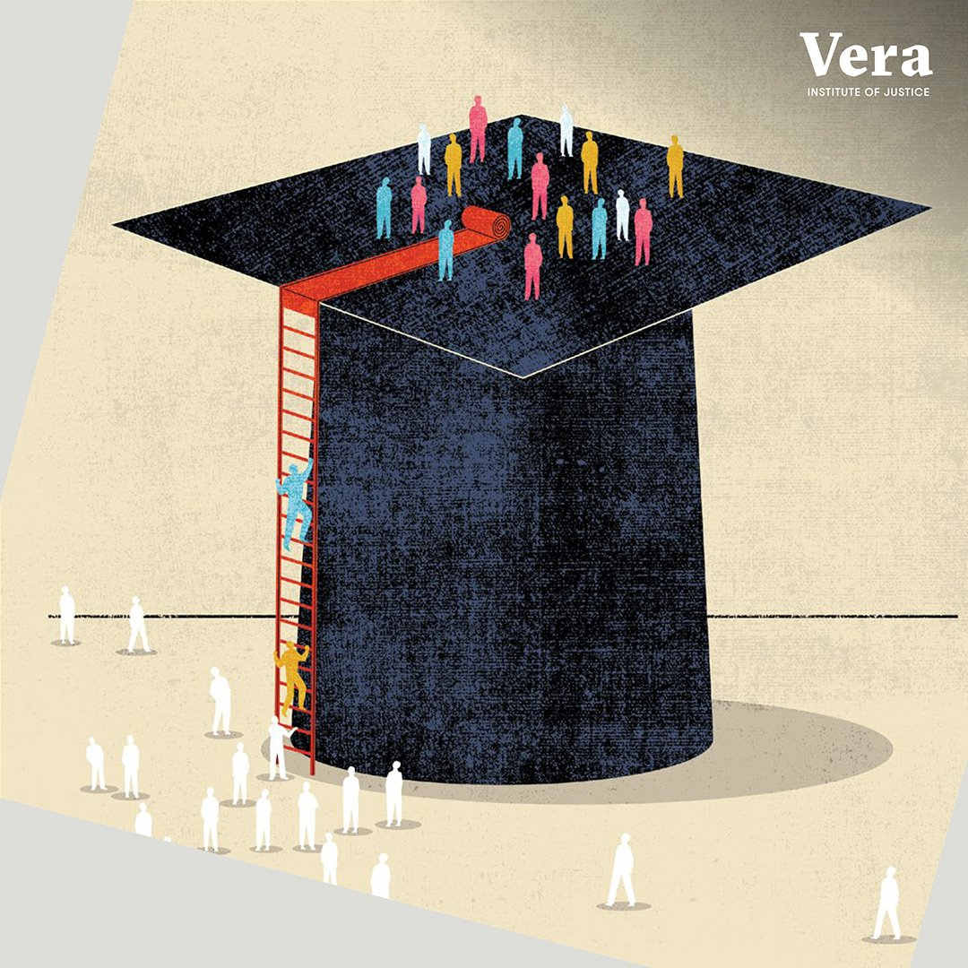 Education has the power to transform individuals, institutions, and communities.  Read more in Vera's latest report about providing quality postsecondary education in prison, and supporting education engagement during reentry. https://www.vera.org/publications/unlocking-potential-prison-to-postsecondary-education…