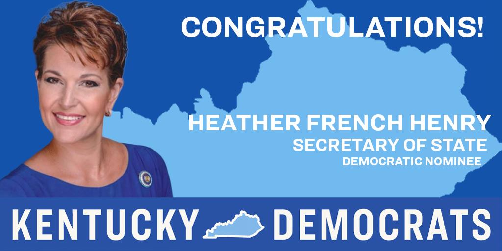 Kentucky Democrats's photo on Heather French Henry