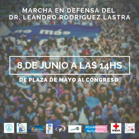 #Argentina  🎤Convocan diferentes organizaciones a marchar en defensa del Dr Rodríguez Lastra. #AbsolucionRodriguezLastra #JusticiaParaRodriguezLastra
