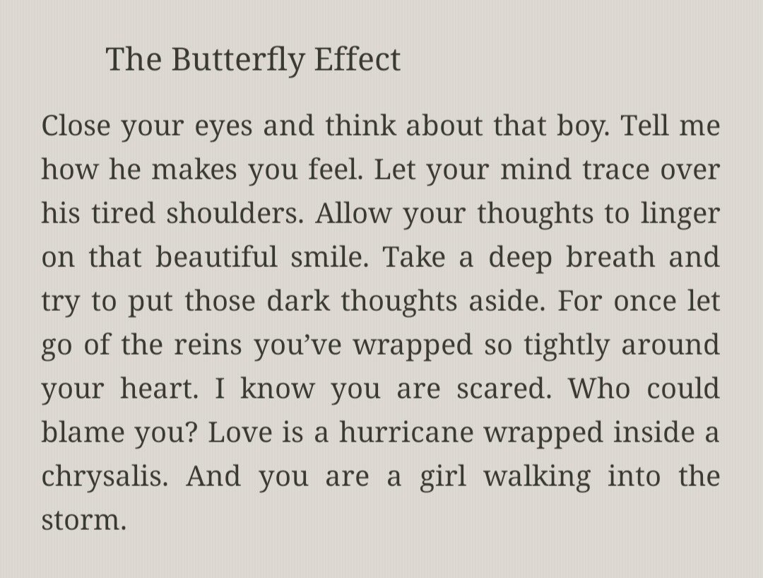 Look what I&#39;ve found from @langleav which is very much a @taylorswift13 thing coz it&#39;s poetry! &quot;THE BUTTERFLY EFFECT&quot; I think this is it guys the kaleidoscope and rainbows fits in the perspective like Me! was inspired  by this or the album title is somewhere here. @taylornation13<br>http://pic.twitter.com/Y3yJMGPeQB