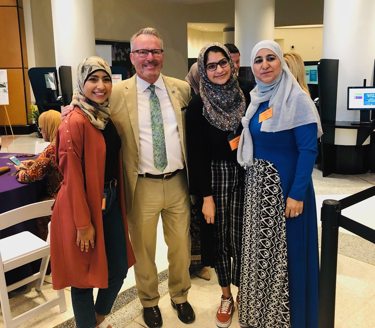 Tonight I was honored to join members of our Muslim community, who are celebrating Ramadan, break bread at an Iftar dinner. It was a beautiful event that showcased our city's commitment to inclusion. – at Orlando City Hall