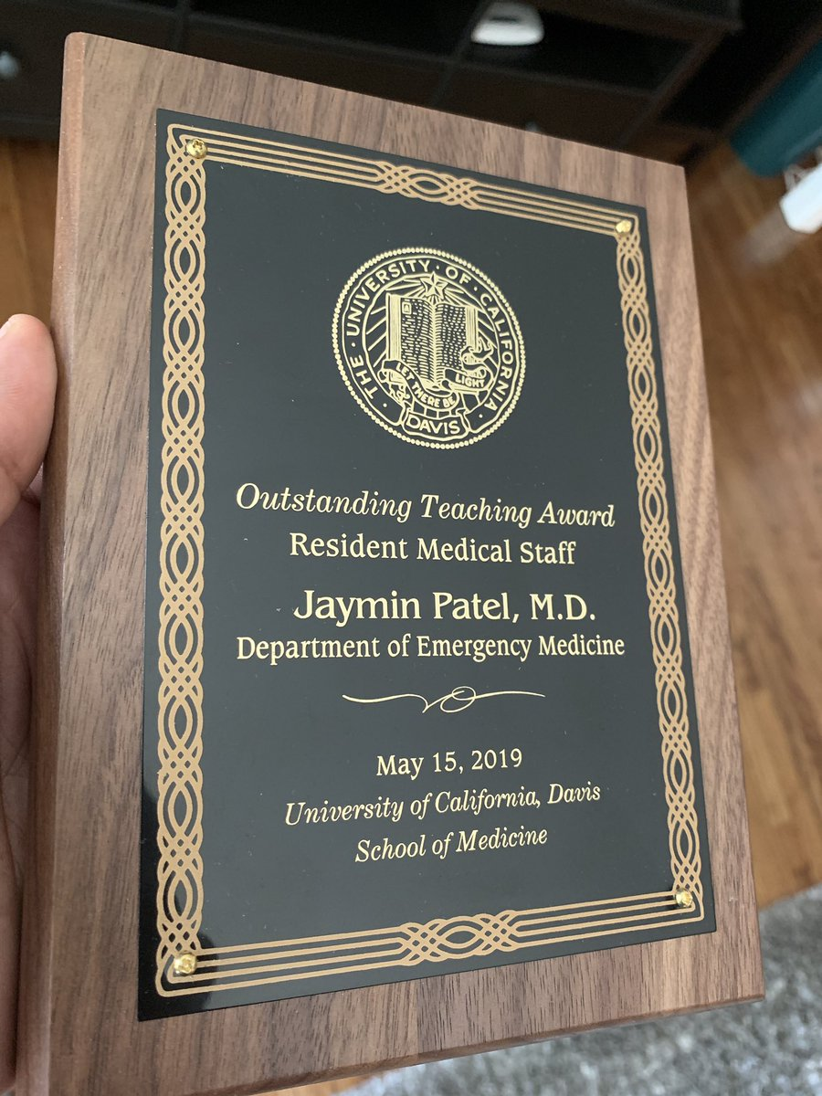 I try to make it a point not to talk about myself and my achievements here, but I have a story to share. @UCDavisEM #EmergencyMedicine #MedEd<br>http://pic.twitter.com/G0SePGKpox