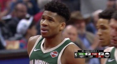 Giannis airballed for the 2nd time this series and the Toronto crowd loved it 😬