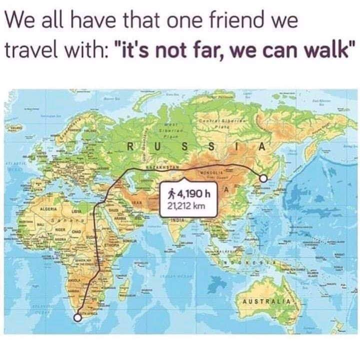 Who's your friend like this?  #friend #travel #toofar #friends #letsgo #walk #together