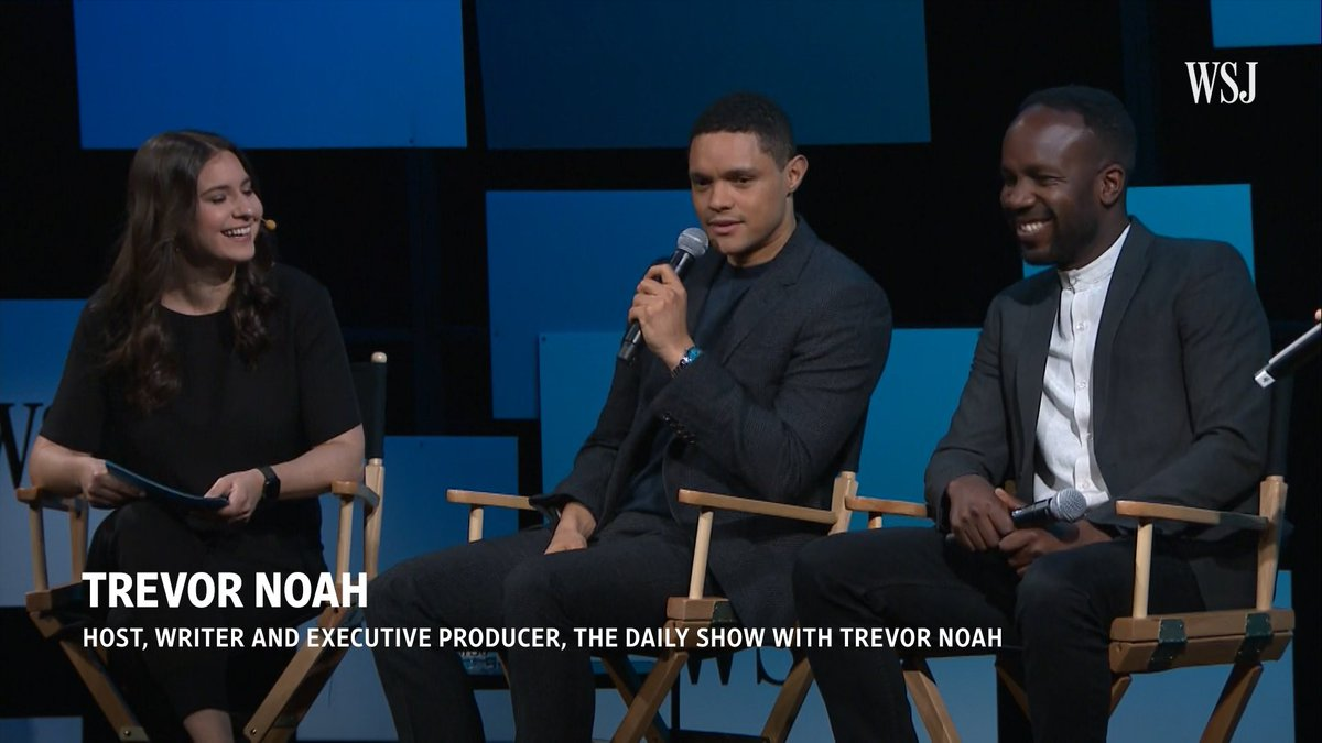 """How do you create a space where you're not trying to implement tokenism but rather true representation?"" Trevor Noah discusses the diversity of @TheDailyShow's guests at the #WSJFuture Of Everything Festival"