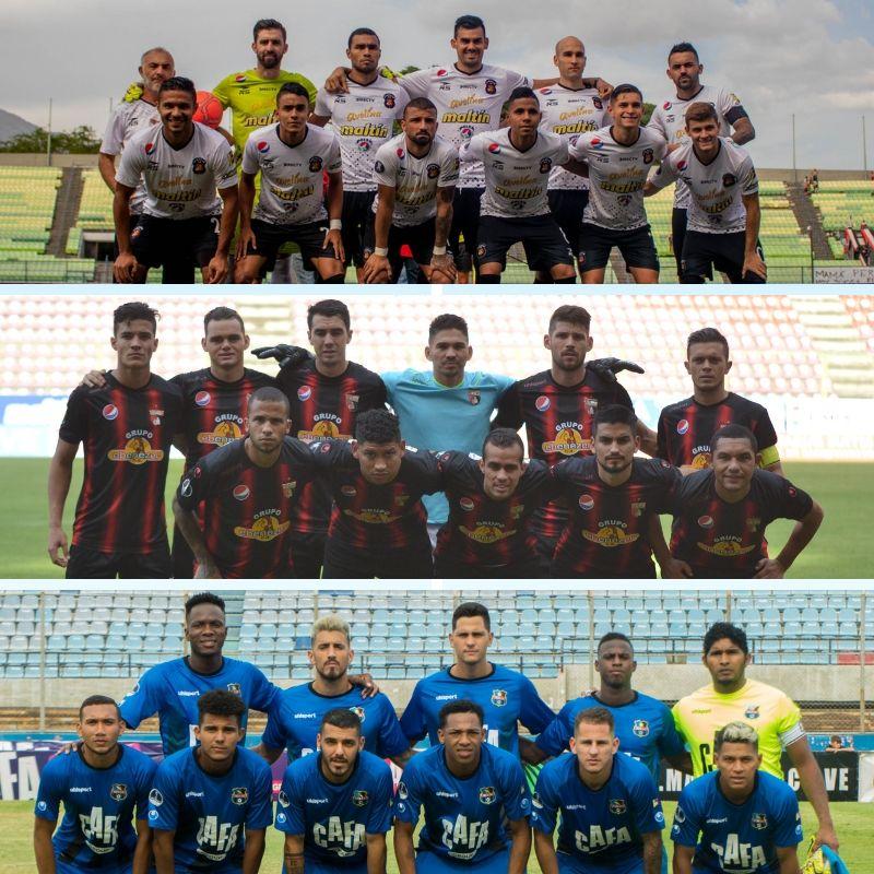 Ellos son nuestros representantes en la @Sudamericana . @Caracas_FC , @DeportivoLara  y @Zulia_FC  buscarán dejar el nombre de la #LigaFUTVE en alto  ¿Cuál equipo llegará más lejos a nivel continetal?...#ConmebolSudamericana #SomosFUTVE #SomosVenezuela