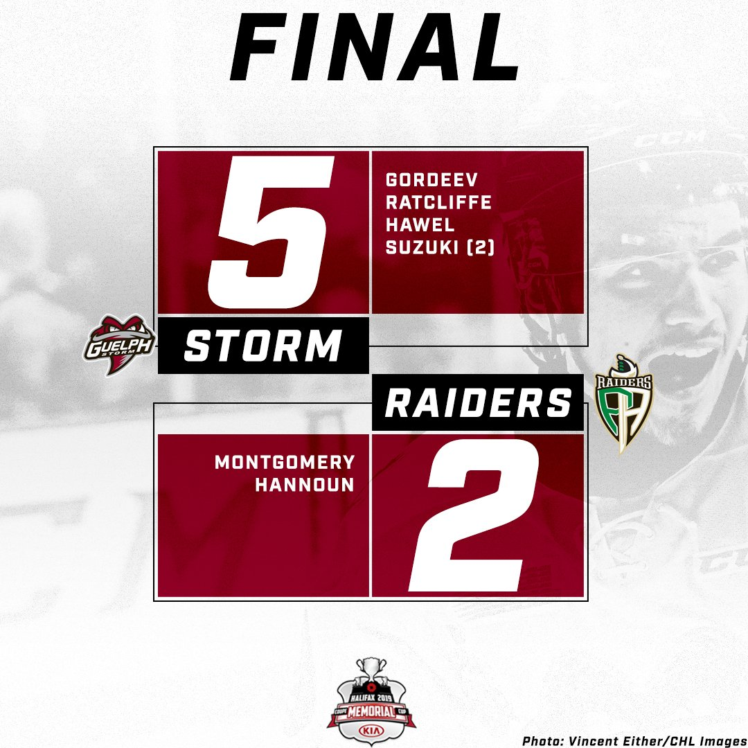 Finishing off the Round Robin strong!  Big win over the Raiders!   Record 2-1.  #IamtheSTORM | #OneToRemember<br>http://pic.twitter.com/hHaNpeKJ2P