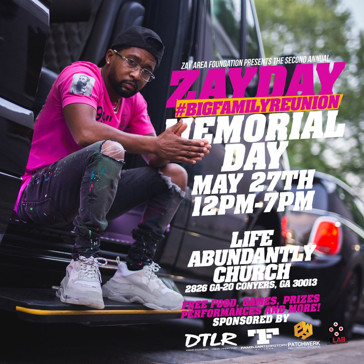 Happy to announce my Second Anual #ZayDay this Monday Memorial Day! EVERYONE welcome #Family #Kids #FreeFood #RT I need volunteers<br>http://pic.twitter.com/RZEKZeJXHW