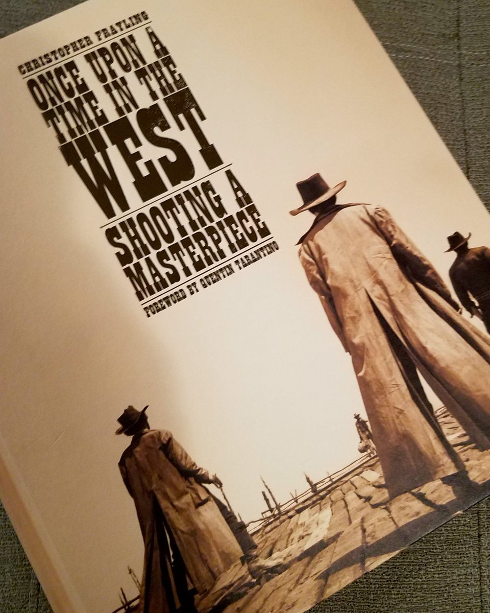 Christopher Frayling's 'Once Upon a Time in the West: Shooting a Masterpiece' arrived today! 40 years of research on every aspect of the film, with posters, interviews, rare images and a daily shooting schedule. #OnceUponaTimeinAlmeria #QuentinTarantino #SergioLeone