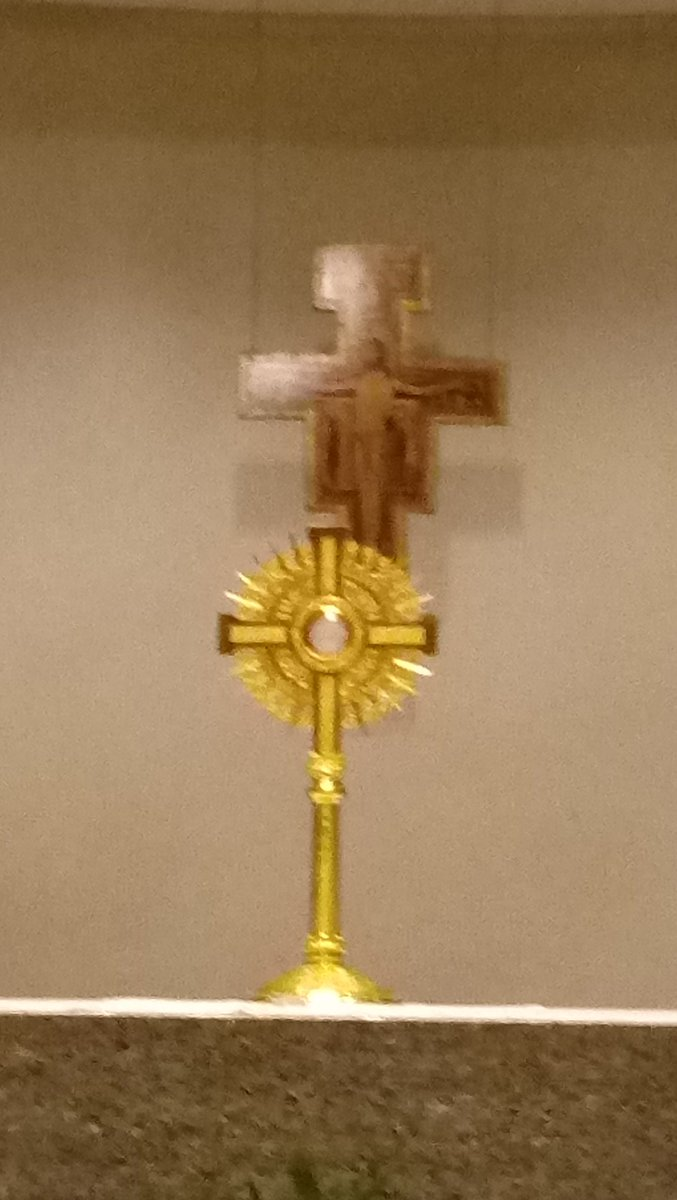 Good night everyone I spent the day at Extended Eucharistic Adoration today praying for all who asked for prayer & making reparation to our Lord Jesus for all who are indifferent to Him Please pray for me Im very tired tonight See everyone tomorrow God bless you #petersbarque