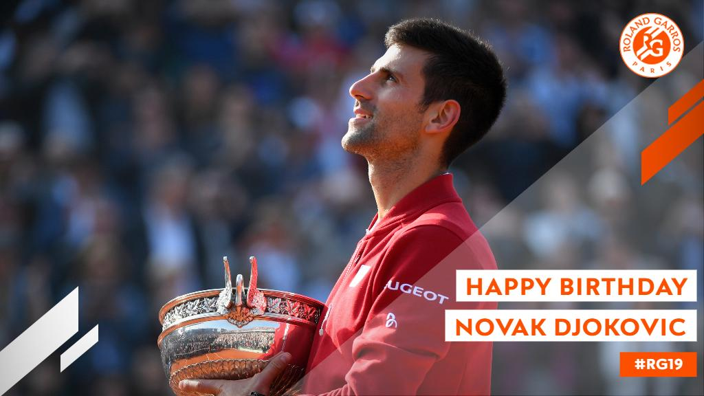Happy birthday @DjokerNole 🥳 Looking forward to seeing you soon! Reply with a 🎂 to wish him all the best! Rendez-vous à #RG19